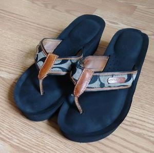 Coach Platform Flip-Flop Sandals
